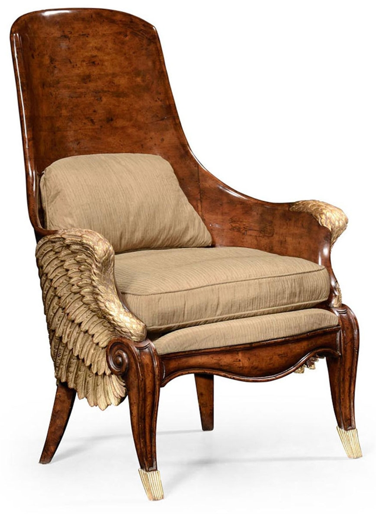 Luxury Leather U0026 Upholstered Furniture Guardian Angel Wings Chair.