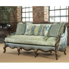 Tufted loveseat, sofa, chair, leather, fabric