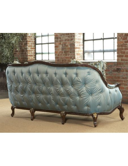 SOFA, COUCH & LOVESEAT Tufted loveseat, sofa, chair, leather, fabric
