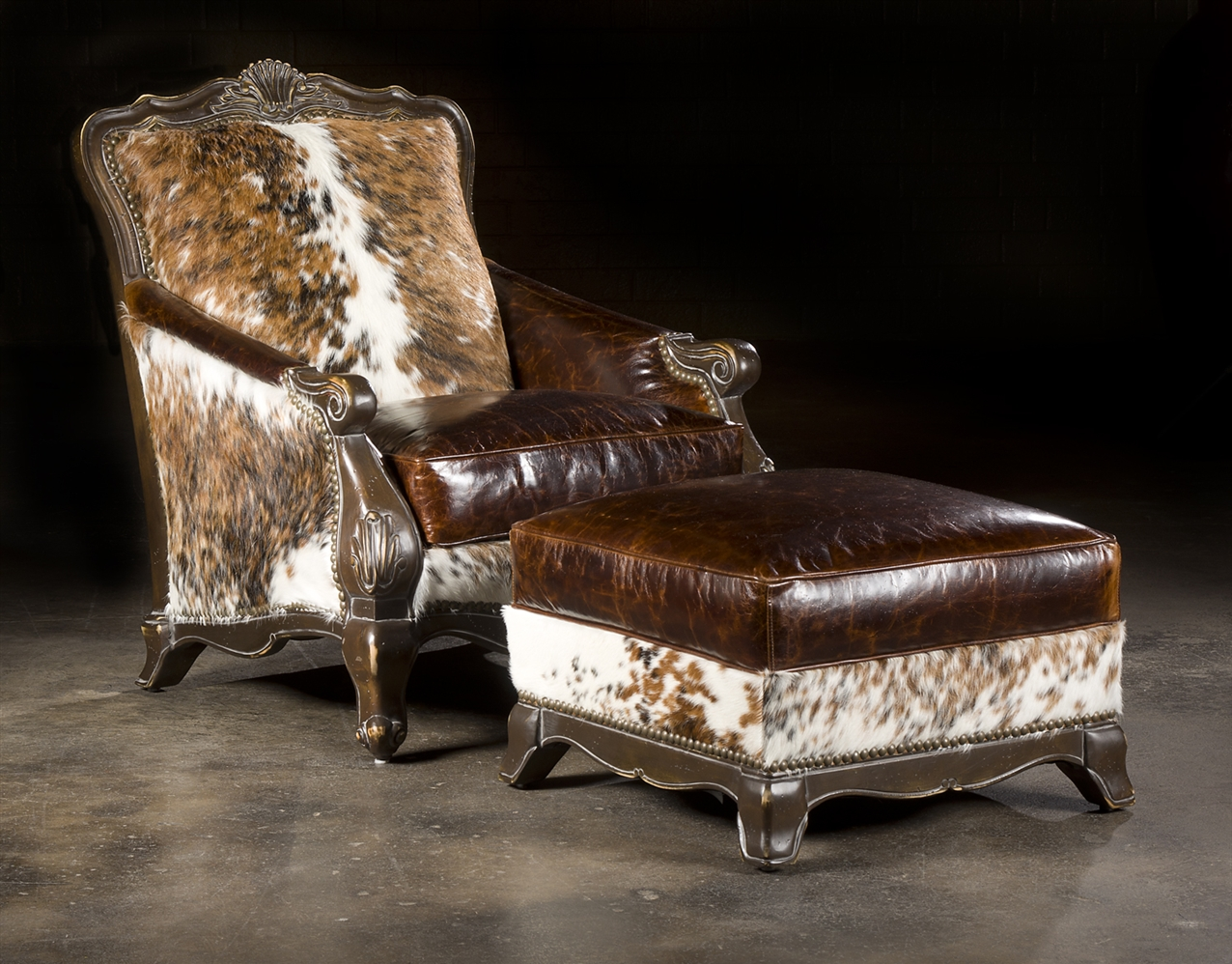 Charmant Luxury Leather U0026 Upholstered Furniture Hair Hide Chair, Western Style  Furnishings