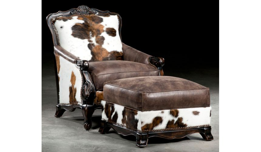 Luxury Leather & Upholstered Furniture Hair hide chair. Luxury furniture. 23