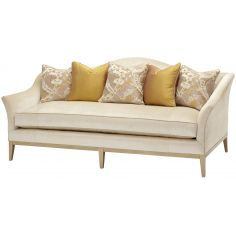 Upholstered Curved Sofa