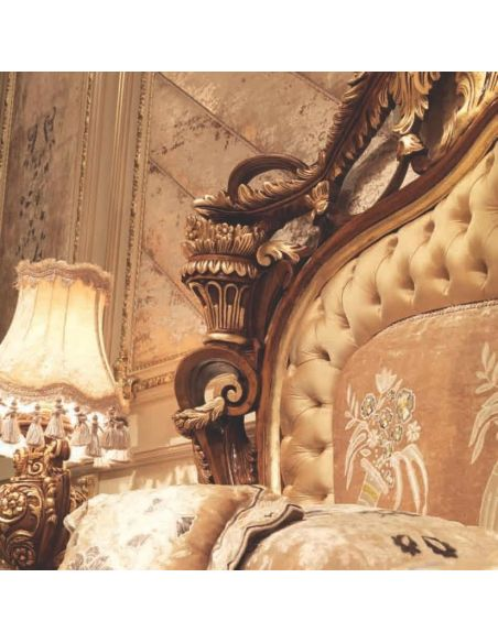 Queen and King Sized Beds Empire Hand Carved Bed. Sleep like a Tsar