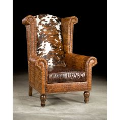 High Back Leather Hair Hide Chair