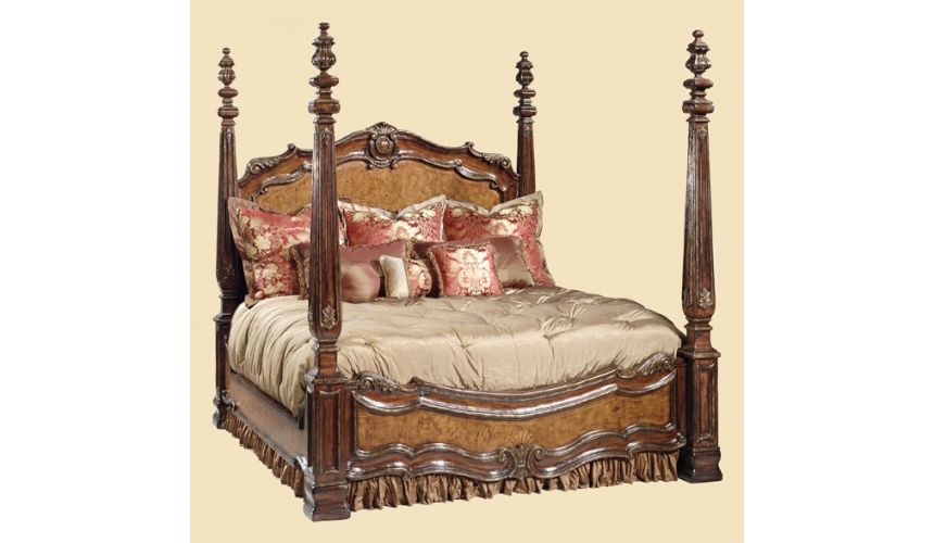 BEDS - Queen, King & California King Sizes High class furniture, master bedroom set, 4 post bed