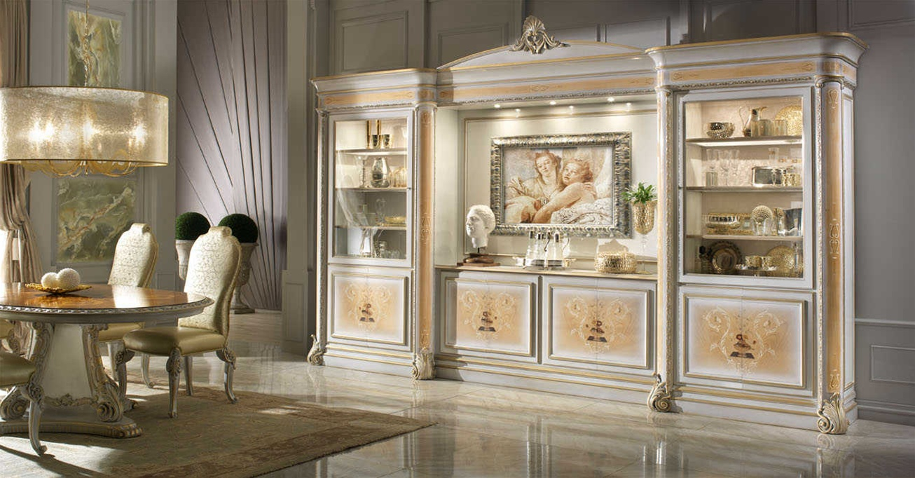 High End China Display Cabinet Italian Luxury Furniture
