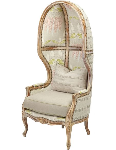 Modern Furniture Long Wingback Chair