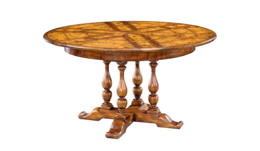 Dining Tables High end dining room furniture solid walnut round dining table. 80-17
