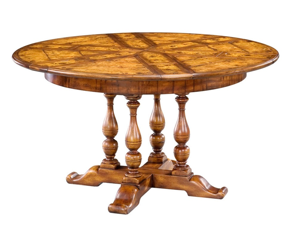 High end dining room furniture solid walnut round dining for High dining table
