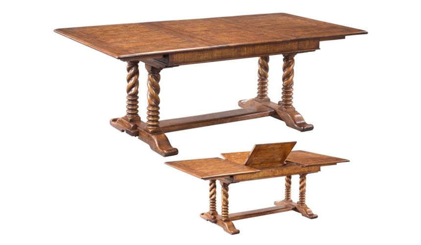 Dining Tables Solid oak dining table, furniture high end dining rooms