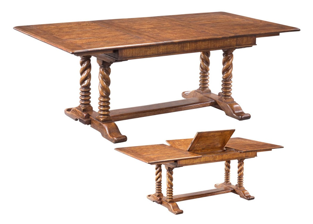 Solid oak dining table furniture high end dining rooms for High dining table