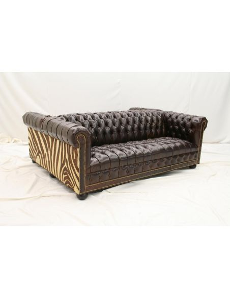 High End Furniture Tufted Double Sided Leather Sofa