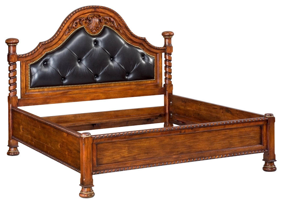 BEDS   Queen, King U0026 California King Sizes High End Bedroom Furniture.  Solid Walnut