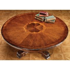 22 High end furniture, solid walnut dining table.
