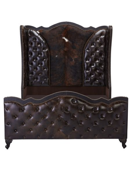 BEDS - Queen, King & California King Sizes Grand Tufted Headboard with Wingback