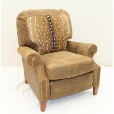High quality furnishings, Fawn hair hide leather recliner
