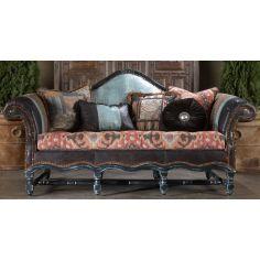 High style furniture mad blue lizard leather sofa
