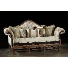 High style leather sofa, Unique western style, tooled leather