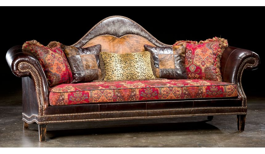 SOFA, COUCH & LOVESEAT High style country western sofa. USA made