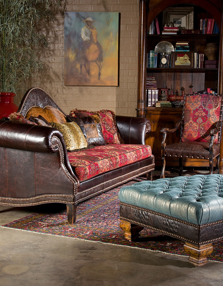 High style country western sofa usa made luxury fine home furnishings and high quality Home furniture usa nj