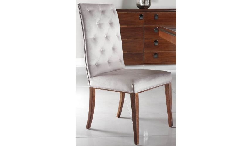 Dining Chairs Tufted Upholstered Armless Chair