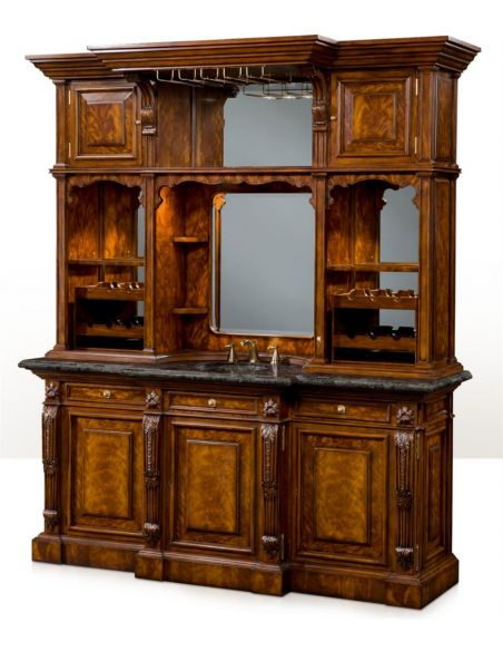 Home bar. Empire style home bar. Luxury furniture.