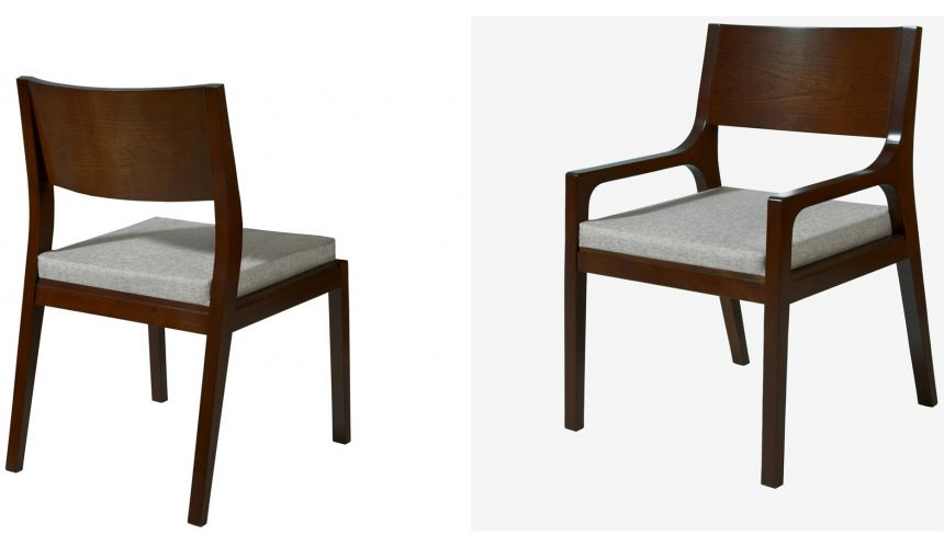 Dining Chairs Low Backrest Chairs (armed and armless)