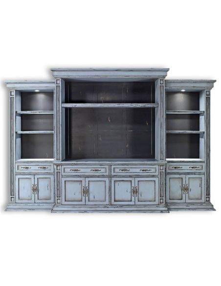 Bookcases Entertainment center. Wall cabinet, TV console. 01