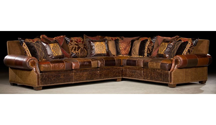 Luxury Leather & Upholstered Furniture Grand home furnishings. Plush sectional sofa. 37