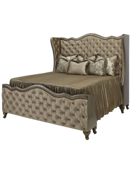 BEDS - Queen, King & California King Sizes Plush Tufted Upholstered Bed