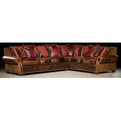 Grand home furniture and furnishings. Plush sectional sofa. 36