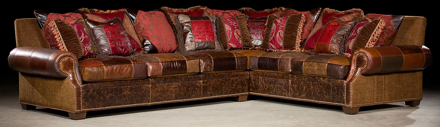 Luxury Leather U0026 Upholstered Furniture Grand Home Furniture And Furnishings.  Plush Sectional Sofa.
