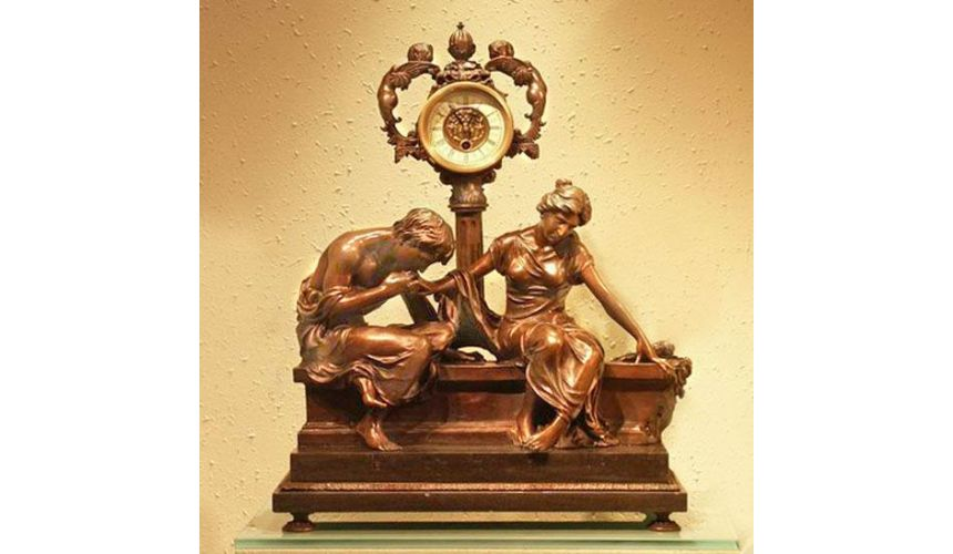 Decorative Accessories Luxurious Home Accents Lovers Clock