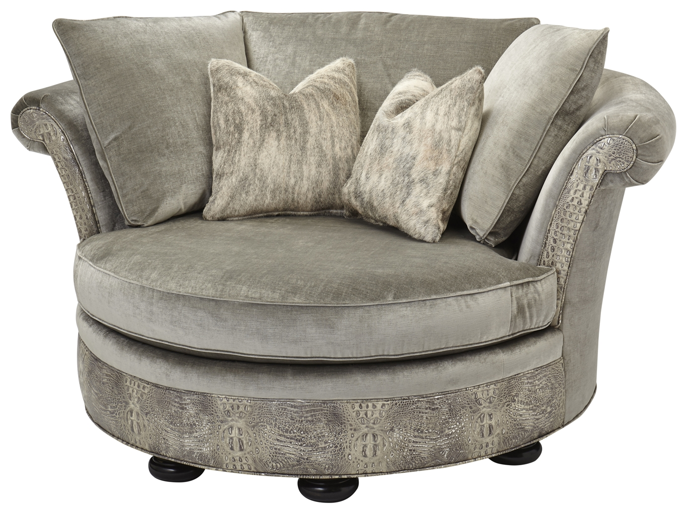 Low back comfy round sofa for Low couch