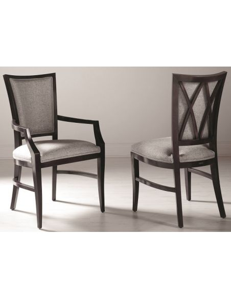 Dining Chairs Upholstered Cross Back Chair