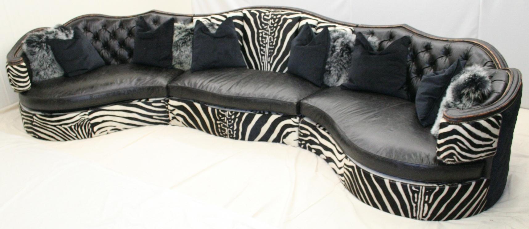 Jungle Room Zebra Sectional