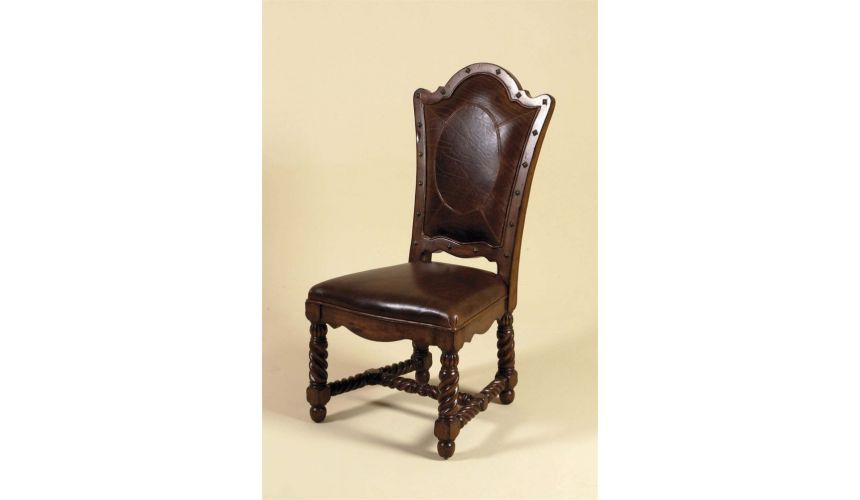 Dining Chairs Jupe chair 645 Leather high back dining chair