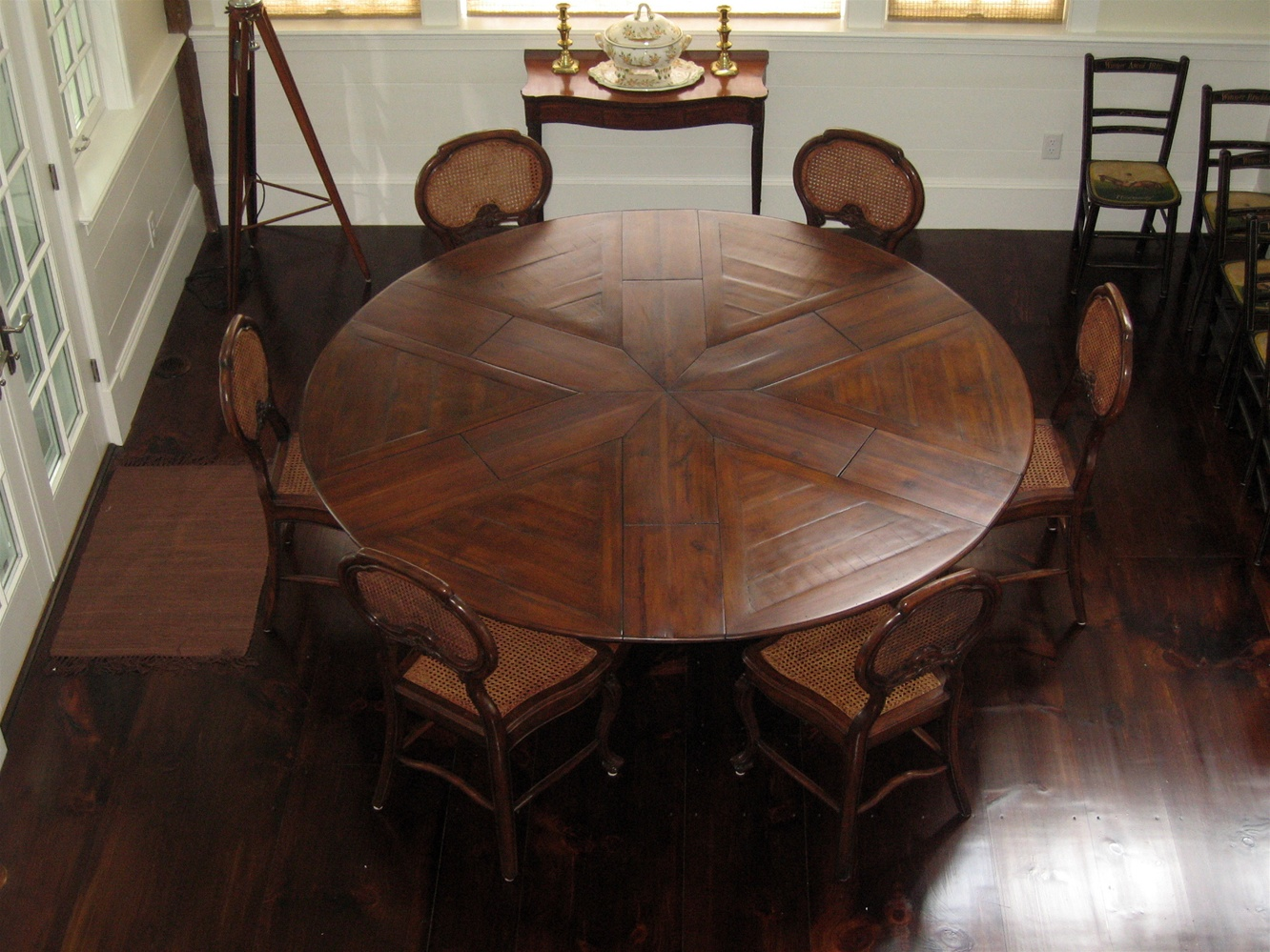 Luxury furniture solid walnut Jupe Dining Table Greenwich, RI.