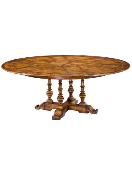 "Dining Tables Solid Oak, Jupe Dining Table 84\"", 70\\"", 56\\"" open"