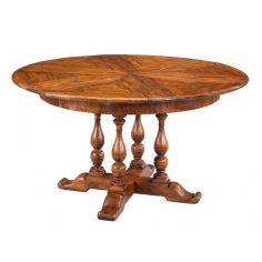 Solid walnut circular jupe dining table