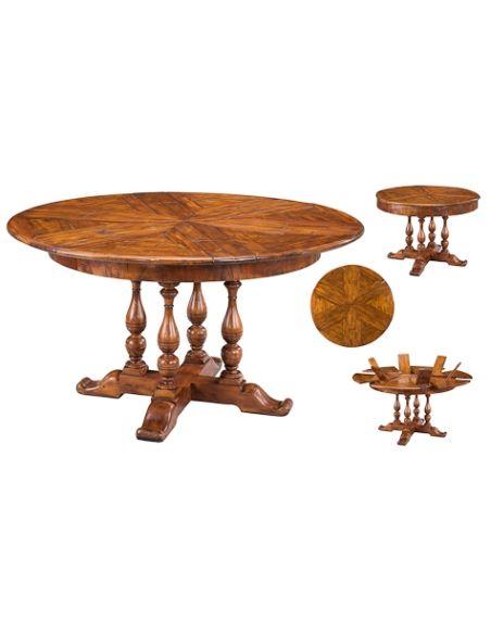 Dining Tables Solid walnut circular jupe dining table