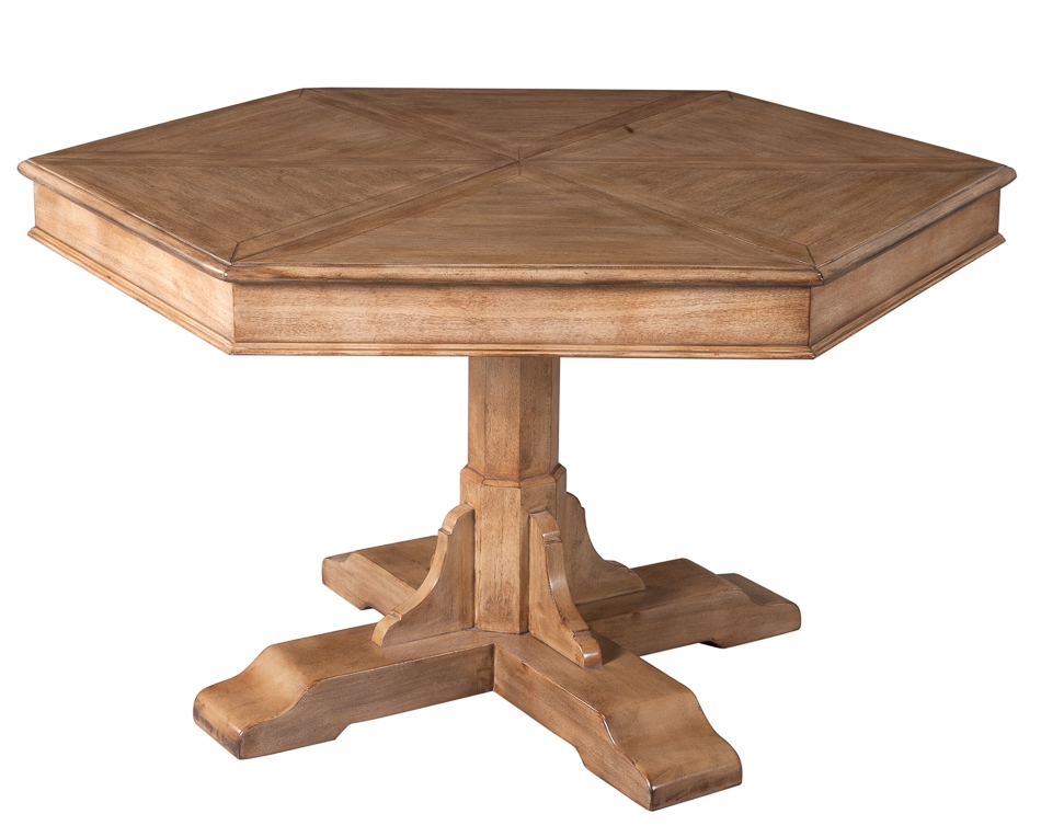 Dining Tables Jupe Table Self Storing Leaves, Hexagonal Shape.