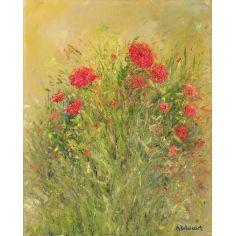 Le Bouquet original oil paintings. Artist Anne-Marie Debuissert.