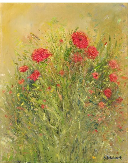 Original Oil Paintings By Artist: Anne-Marie Debuissert Le Bouquet original oil paintings. Artist Anne-Marie Debuissert.