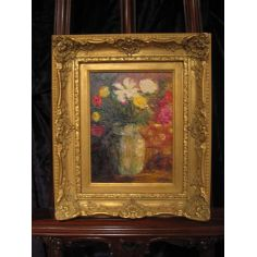 Le Bouquet original oil paintings and home decor. Artist Anne-Marie Debuissert.
