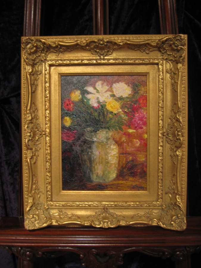 Le bouquet original oil paintings and home decor artist for Anne marie witmeur decoration