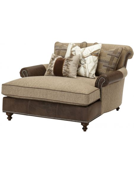 Luxury Leather & Upholstered Furniture Double chair chaise 2232