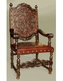 Rustic Luxury Furniture Renaissance Leather Arm Chair
