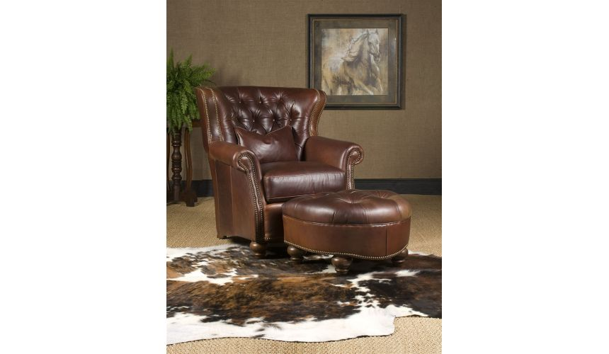 Luxury Leather & Upholstered Furniture leather chair ottoman high end furniture
