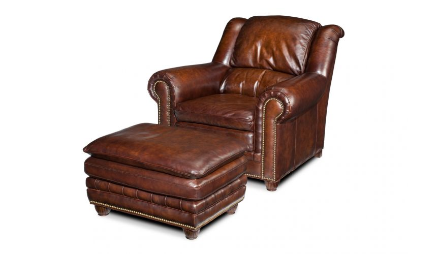 Luxury Leather & Upholstered Furniture Luxury Upholstered Furniture, Leather Chair and Ottoman